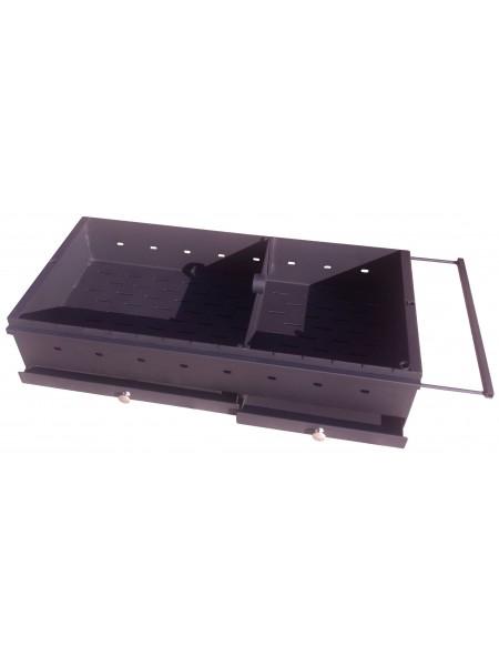 Жаровня с зольниками МД 3 мм, 905 х 430 х 180 с выдвижной рамкой