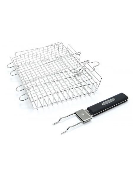 Решетка для гриля со съемной ручкой