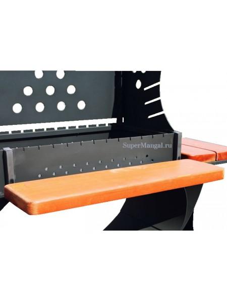 Навесной передний столик для мангалов koncept