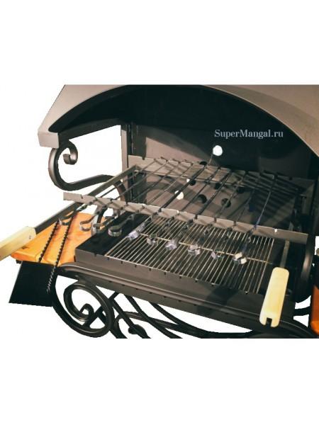 Подъемная рамка для шампуров