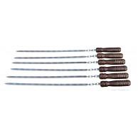 6 шампуров с деревянной ручкой - большие