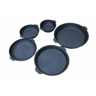 Чугунные сковороды размерами от 240 до 460 мм