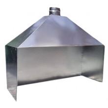 Зонт пристенный из оцинков. стали для мангала